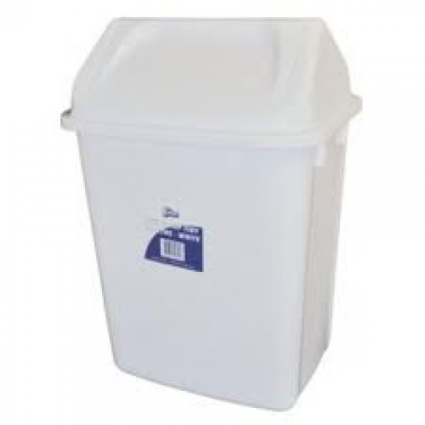 Edco Swing Top Tidy 30L- white
