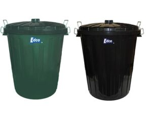 Plastic Garbage Bin With Lid 55L