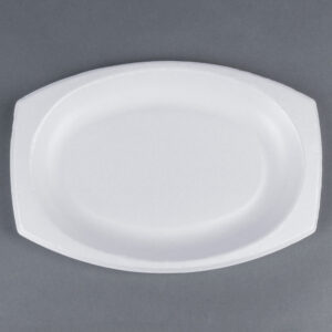 11″x8 White Laminated Oval Plate