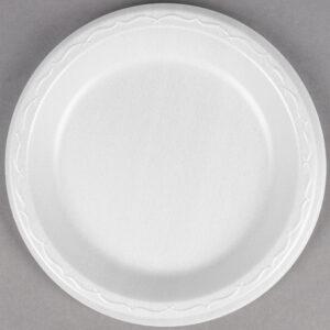 7″ White Laminated Round Plate