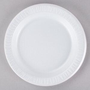 9″ White Laminated Round Plate