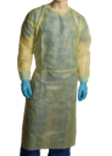 polypropylene-isolation-gown-yellow