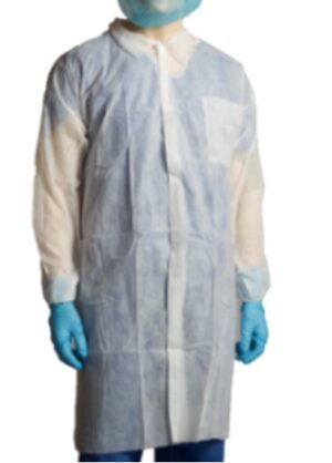 POLYPROPYLENE  LABCOAT  –  1 POCKET  –  WHITE