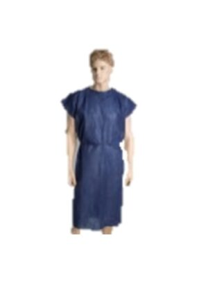 PP  PATIENT  GOWN  –  DARK  BLUE CARTON/100