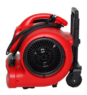 XPOWER 520 WATT PROFESSIONAL AIR MOVER WITH WHEELS AND LUGGAGE HANDLE