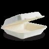 9x9x3″ White BioCane Clamshell
