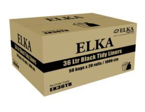 Elka 36L Black Bin Liners