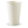12oz (80mm) White Single Wall BioCup