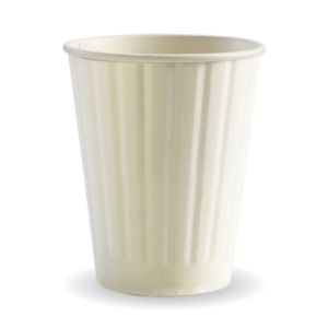 12oz (90mm) White Double Wall BioCup
