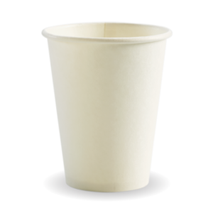12oz (90mm) White Single Wall BioCup