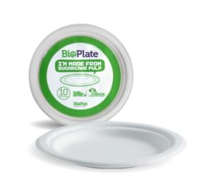 10″ White BioPlates – 10pk