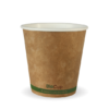 6oz (80mm) Kraft Green Stripe Single Wall BioCup
