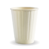 8oz (80mm) White Double Wall BioCup