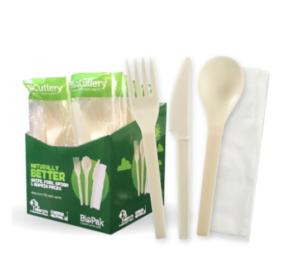 6″ PSM Knife, Fork, Spoon & Napkin Set