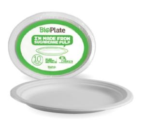 12.5″ White Oval BioPlates