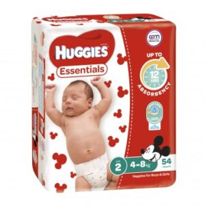 Huggies Essentials Infant QTY  216′ CARTON