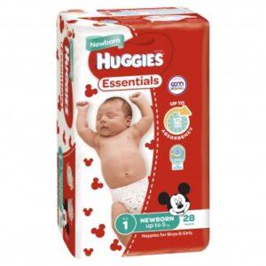 Huggies Essentials Newborn  QTY 112