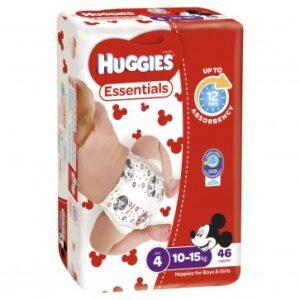 Huggies Essentials Toddler QTY 184 PER CARTON