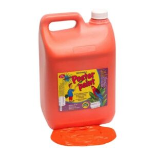 Orange Poster Paint 5 Litres