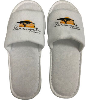 Standard Open Toe White  Slipper
