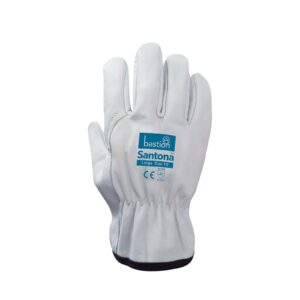 Cow Grain Natural Leather Riggers Gloves