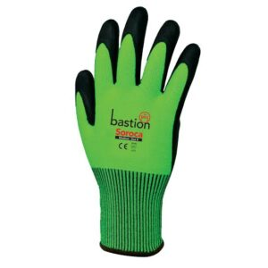 green glove 300x300 - Green HPPE High Vis Gloves/Black Micro Foam