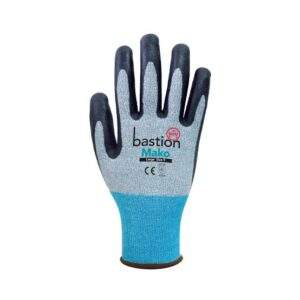 Grey HPPE/Spandex Gloves Black Micro Foam Flex Nitrile Coating