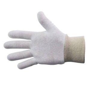 Cotton Interlock Gloves – Knitted Cuff