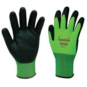 Green HPPE High Vis Gloves/Black Micro Foam