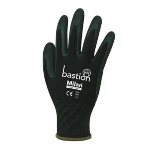 imagesP6WLJXCC 300x300 - Black Nylon/ Black Sandy Nitrle Foam Coated Gloves