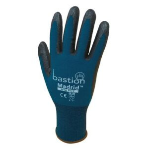 Green Nylon/Spandex Gloves, Black Micro Foam Flex Nitrile Coating