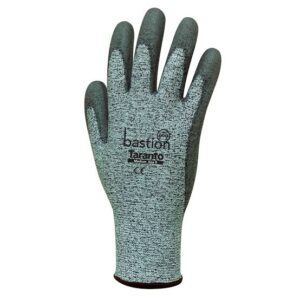 HPPE PU Coated Gloves / Grey Polyurethane Palm Coating