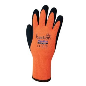 Modina Orange Acrylic Thermal Gloves